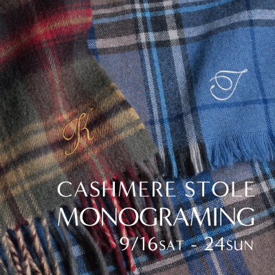 CASHMERE STOLE MONOGRAMING